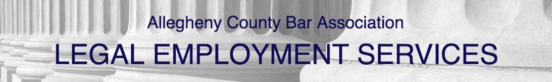 Allegheny County Bar Association Legal Employment Service